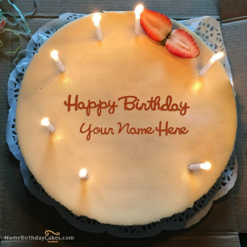 New Candles Birthday Cake For Friend With Name