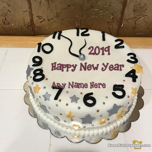 New Years Eve Cake 2018 With Name