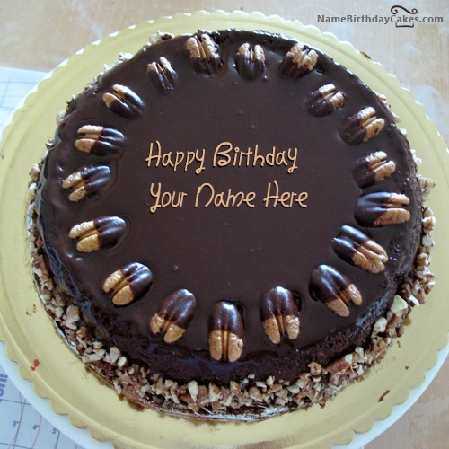 Nuts Birthday Cake For Friend With Name
