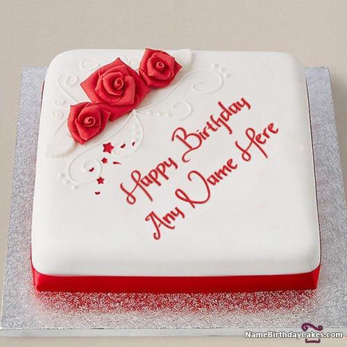Romantic Birthday Cakes With Names