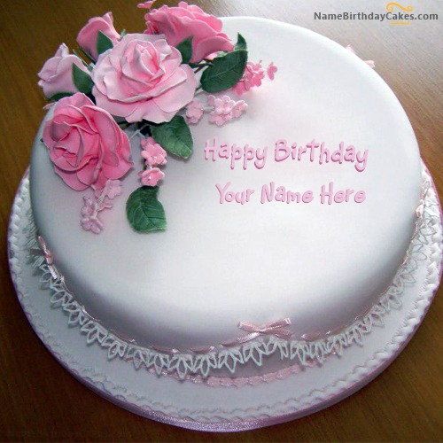 Write Name On Rose Birthday Cake For Sister