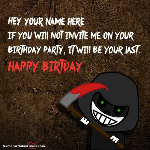 Scary Funny Birthday Wish