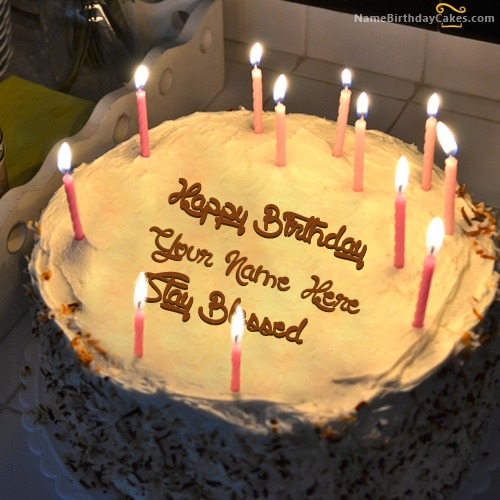 Images Of Birthday Cakes With Names And Candles : Special Candles Birthday Cake
