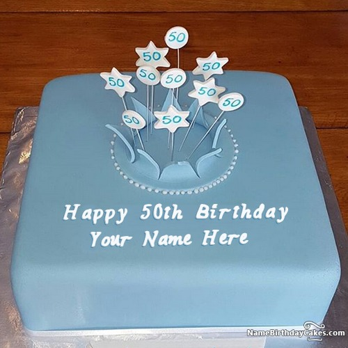 Marvelous Special 50Th Birthday Cake Images With Name Personalised Birthday Cards Veneteletsinfo