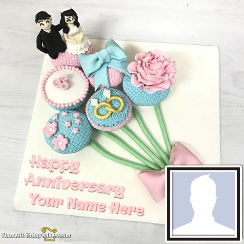 Special Marriage Anniversary Cake With Photo And Name