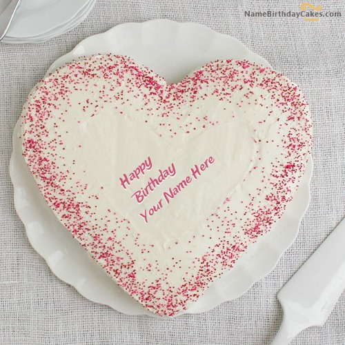 Sprinkle Birthday Cake for Lover With Name