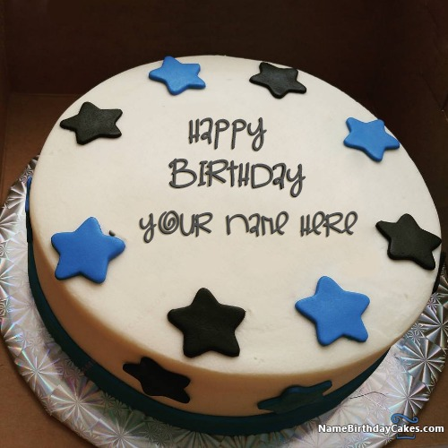 Star Butter Cake For Boys Happy Birthday Wishes With Name