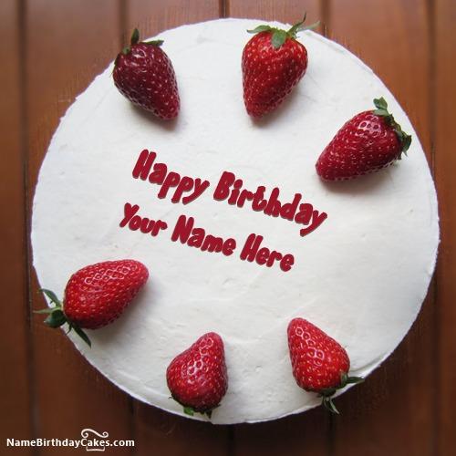 Strawberries Friends Birthday Cake