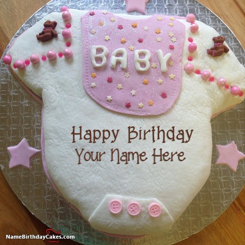 Sweet Baby Shower Cake For Kids Happy Birthday With Name