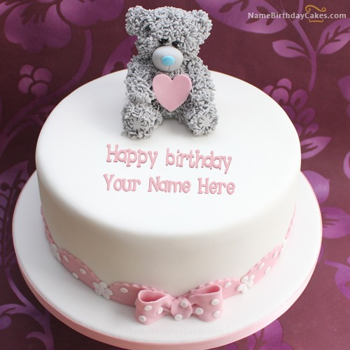 Kitty Birthday Cake For Kids With Name