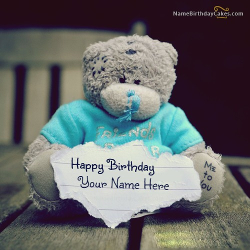Write Name On Teddy Birthday Wish