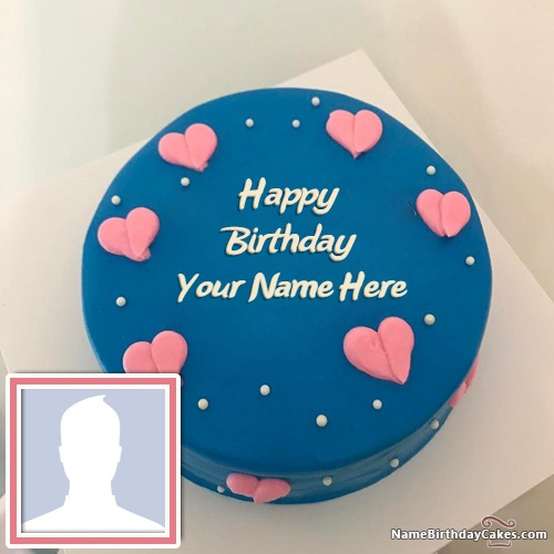 Birthday Cake For Boys With Name And Photo