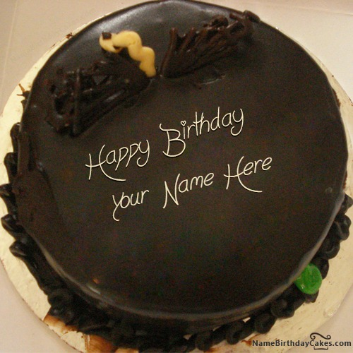 Unique Chocolate Cake For Friends With Name