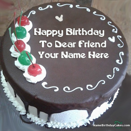 Birthday Cake Images With Name Rakesh : White Chocolate Cake For Brother Birthday With Name