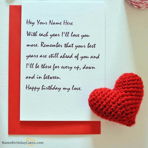 Write Name on Birthday Wishes for Lover Birthday Wishes – Birthday Greetings to a Lover