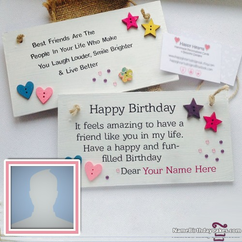 Write Name On Birthday Card With Photo