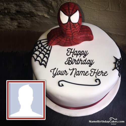 Fine Customize Spiderman Birthday Cake With Name Personalised Birthday Cards Paralily Jamesorg