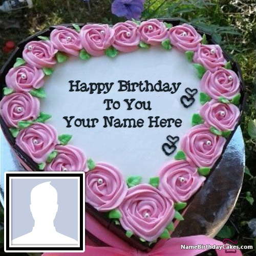 Add Name Amp Photo On Birthday Cake 600 Cakes