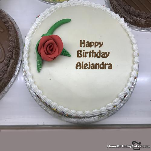 Happy Birthday Alejandra Cakes, Cards, Wishes