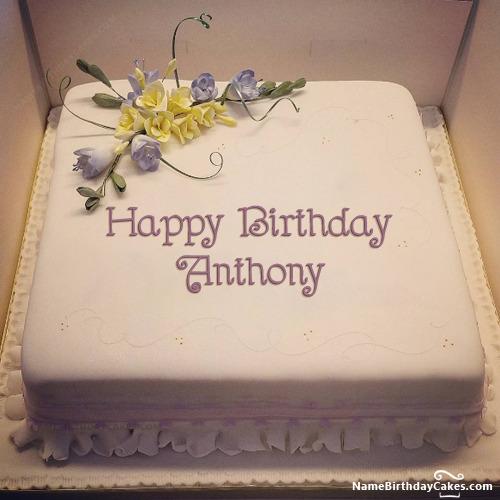 Happy Birthday Anthony Cake Greetings Cards For Birthday For Anthony Messageswishesgreetings Com