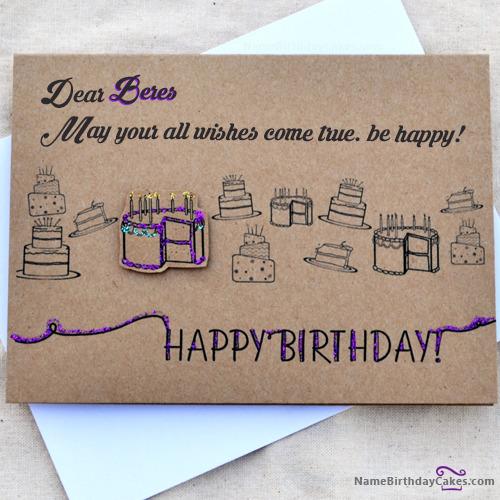 Happy Birthday Beres Cakes, Cards, Wishes
