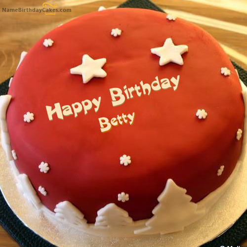 happy birthday betty cakes cards wishes