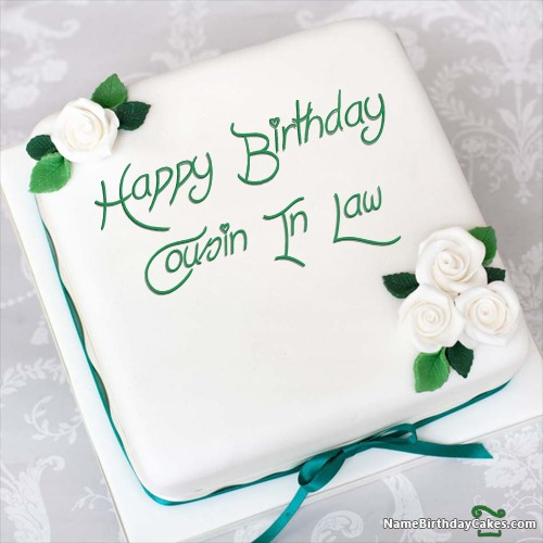 Magnificent Happy Birthday Cousin In Law Cakes Cards Wishes Funny Birthday Cards Online Aboleapandamsfinfo
