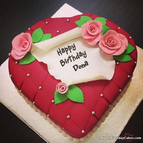 happy birthday dona cakes cards wishes