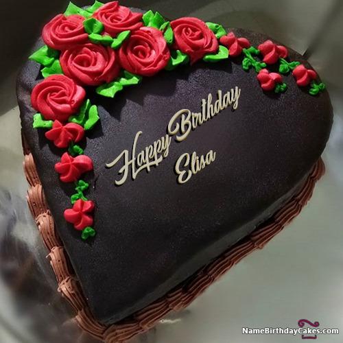 happy birthday elisa cakes cards wishes