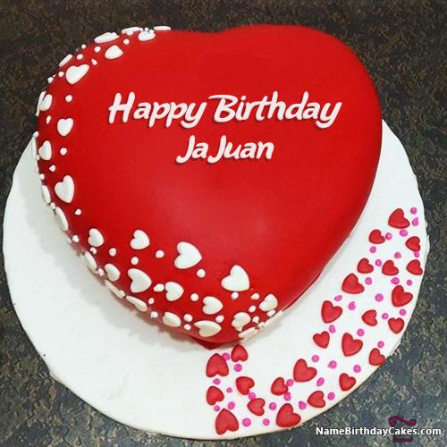 Romantic Birthday Image Of Cake With Name