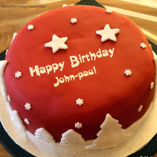 Superb Happy Birthday John Paul Cakes Cards Wishes Personalised Birthday Cards Sponlily Jamesorg