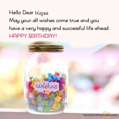 Birthday Wishes Jar Image With Name