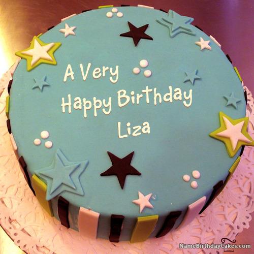 Happy Birthday Liza Cakes, Cards, Wishes