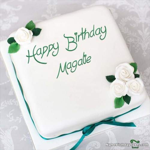 happy birthday magalie cakes cards wishes