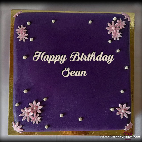 Happy Birthday Sean Cakes Cards Wishes