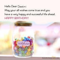 happy birthday destini