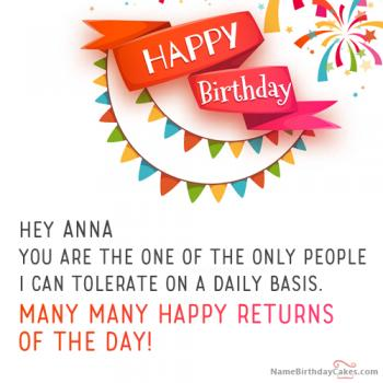 Happy Birthday Anna Video And Images