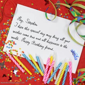 Happy Birthday Stephen images