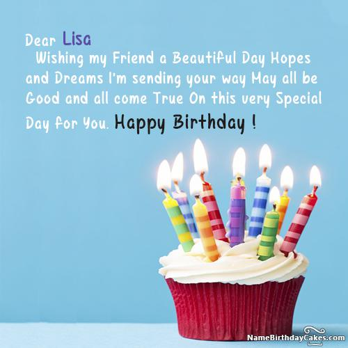 Happy Birthday Lisa Images