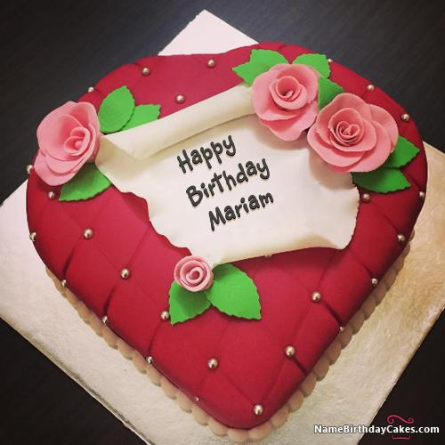 Happy Birthday Mariam Cake Images Download Amp Share