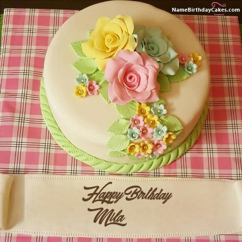 Happy Birthday Mila Cake Images