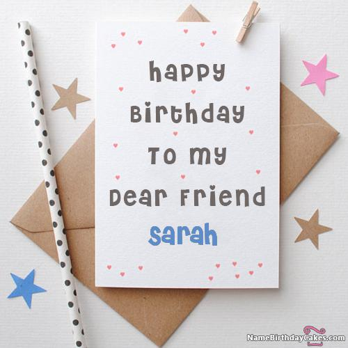 Happy birthday sarah card download share bookmarktalkfo Choice Image