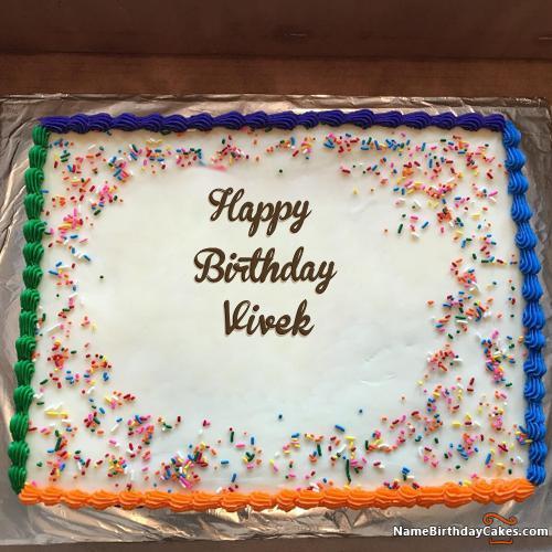 Happy Birthday Vivek Cake Images