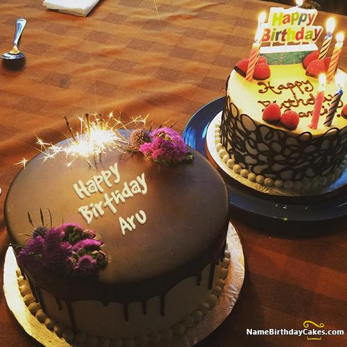Birthday Cake With Name Guddu ~ Happy birthday aru video and images